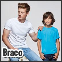 Camiseta para vestuario laboral personalizable por serigrafía modelo Braco