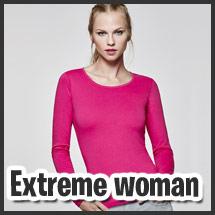 Camiseta de mujer con manga larga para vestuario laboral personalizable por serigrafía modelo Extreme Woman
