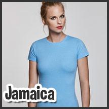 Camiseta de mujer para vestuario laboral personalizable por serigrafía modelo Jamaica