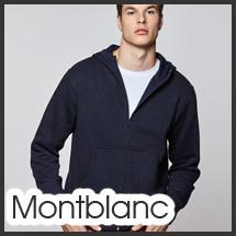 Sudadera con capucha y cremallera personalizable con serigrafía modelo Montblanc